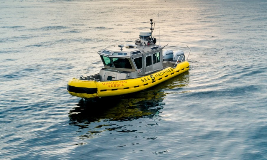 Sea Machines Robotics autonomous pilot vessel.